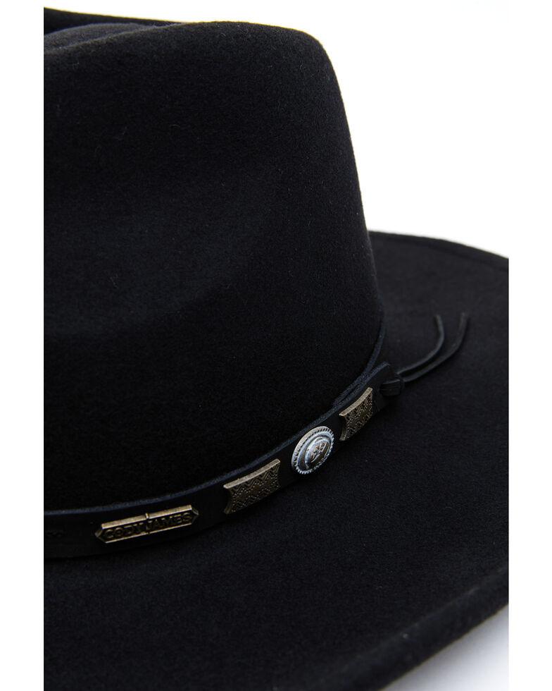 Cody James Men's Black Wool Felt Pinch Crease Western Hat, Black, hi-res