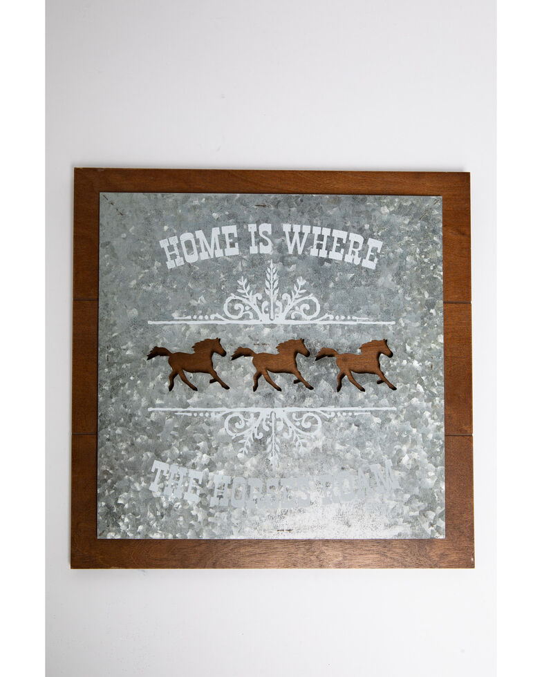 Boot Barn Ranch Horses Roam Wall Art, Silver, hi-res