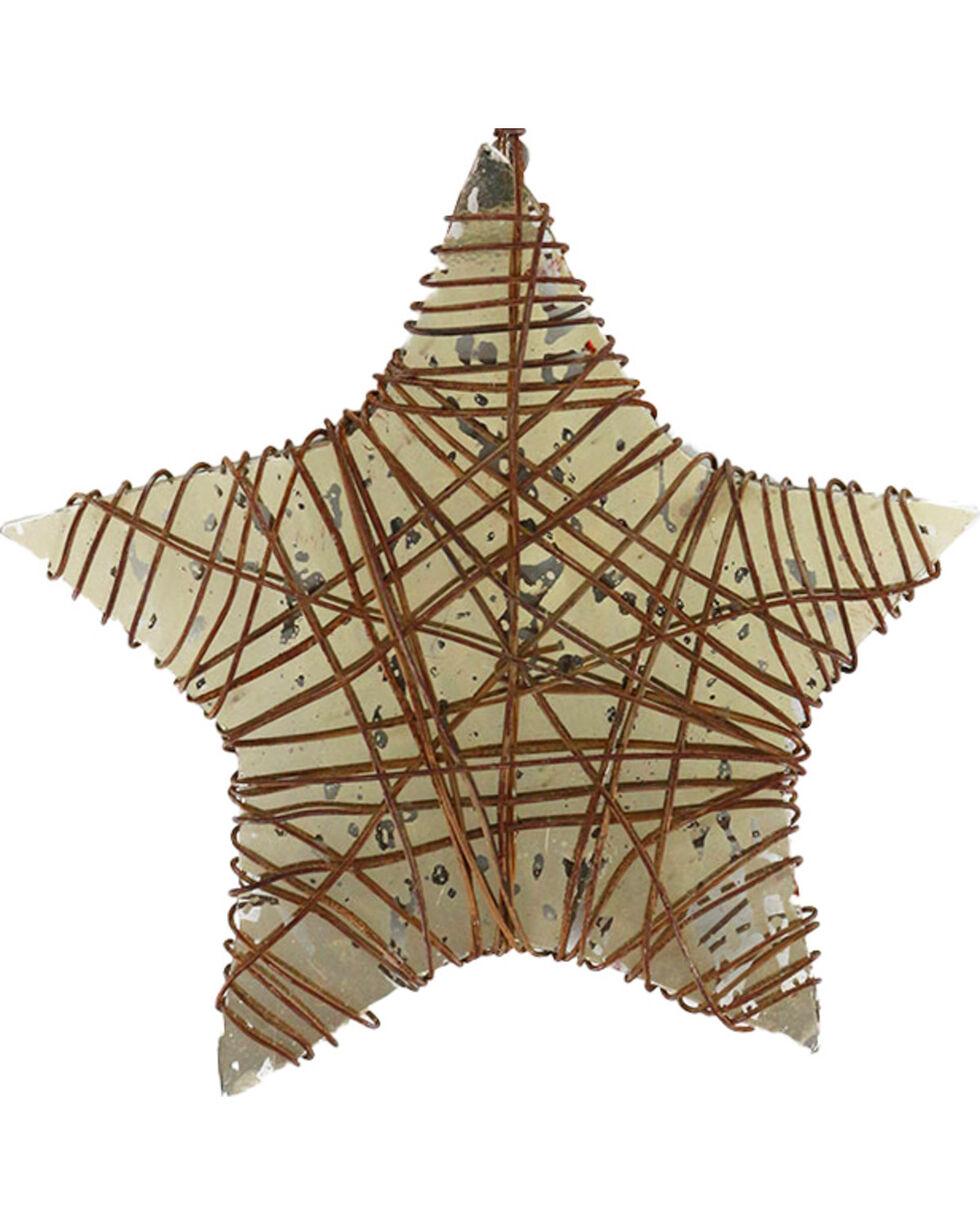 BB Ranch Wire Star Ornament, No Color, hi-res