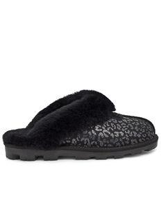 UGG Women's Snow Leopard Coquette Slippers, Black, hi-res