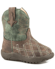 Roper Infant Boys' Cross Cut Cowbabies Boots, Brown, hi-res