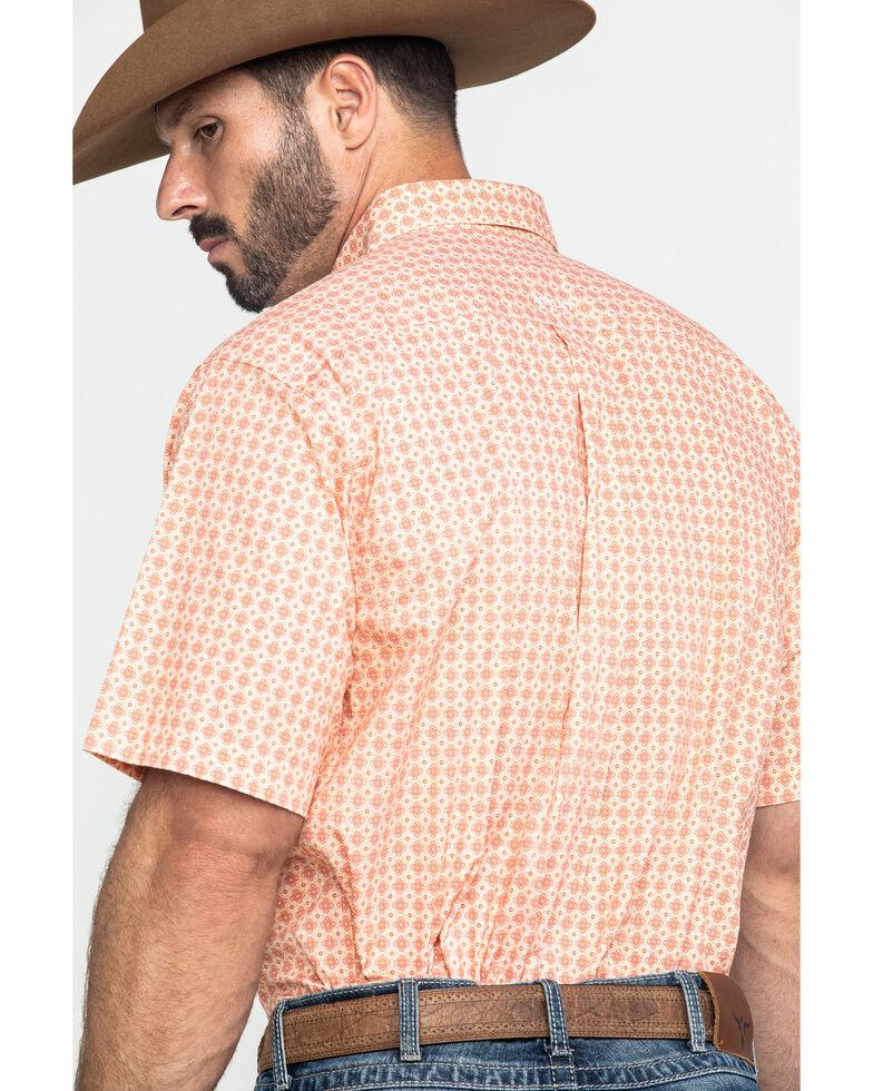 Ariat Men's Fishers Multi Geo Print Short Sleeve Western Shirt - Big , Multi, hi-res