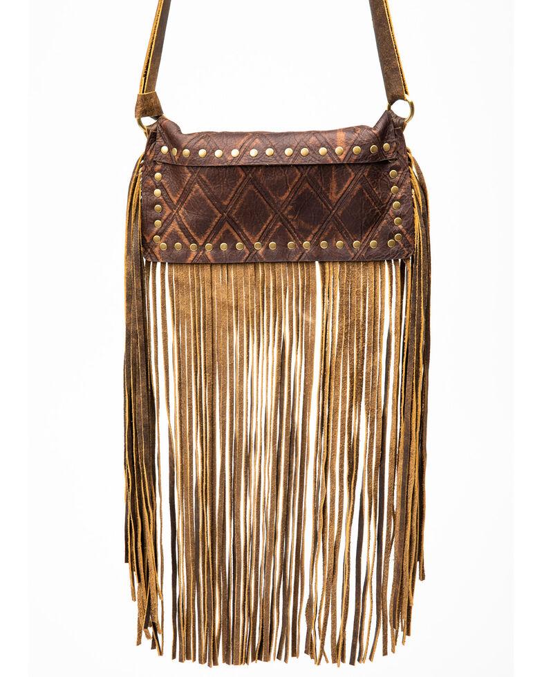 Keep It Gypsy Women's Carolyn Waist Brown Diamonds Handbag, Brown, hi-res