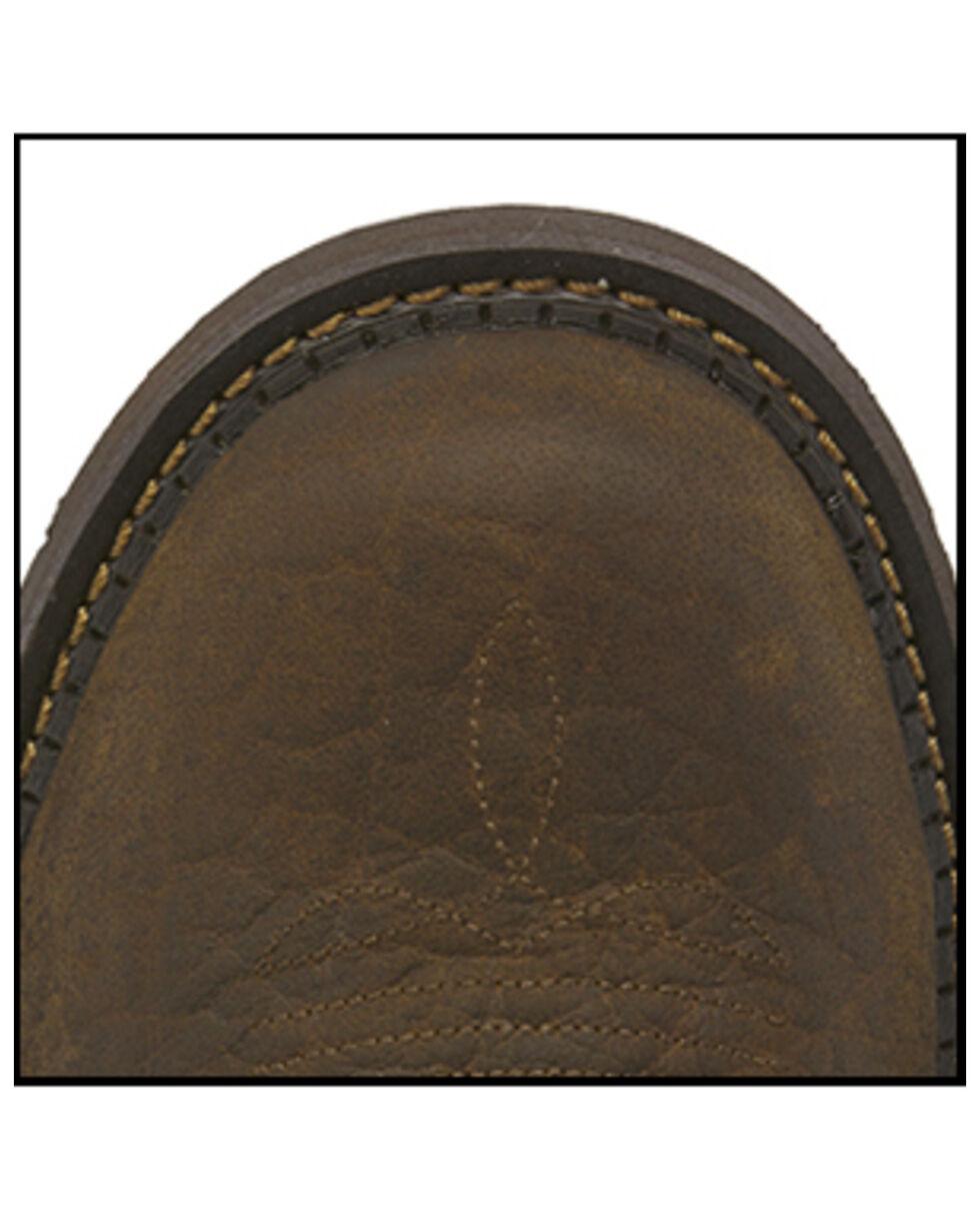 Justin Men's Stampede Western Work Boots - Steel Toe, Brown, hi-res