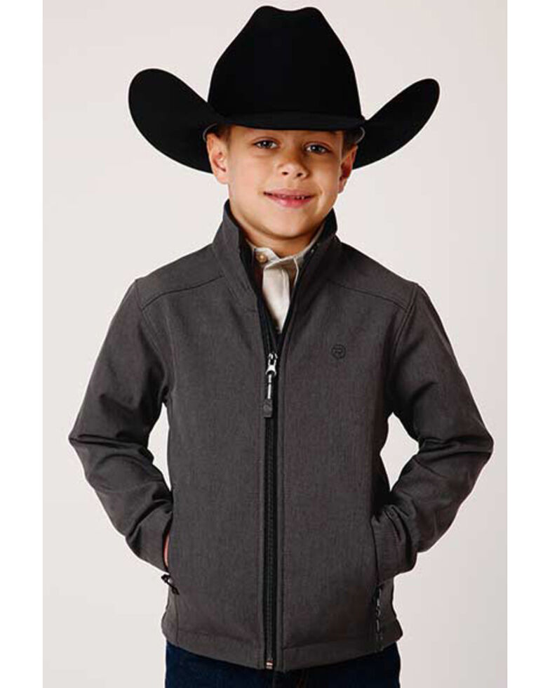 Roper Boys' Grey Hi Tech Fleece Softshell Jacket , Grey, hi-res