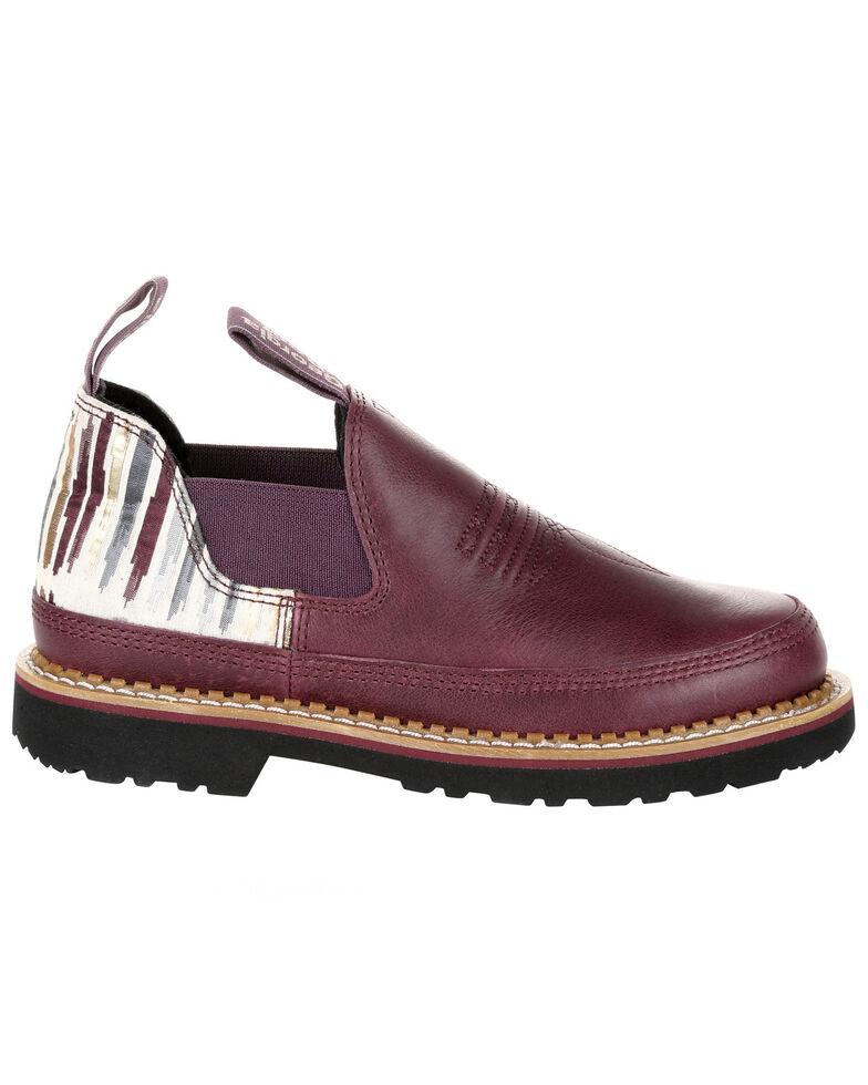 Georgia Boot Women's Wine Striped Romeo Shoes - Round Toe, Purple, hi-res