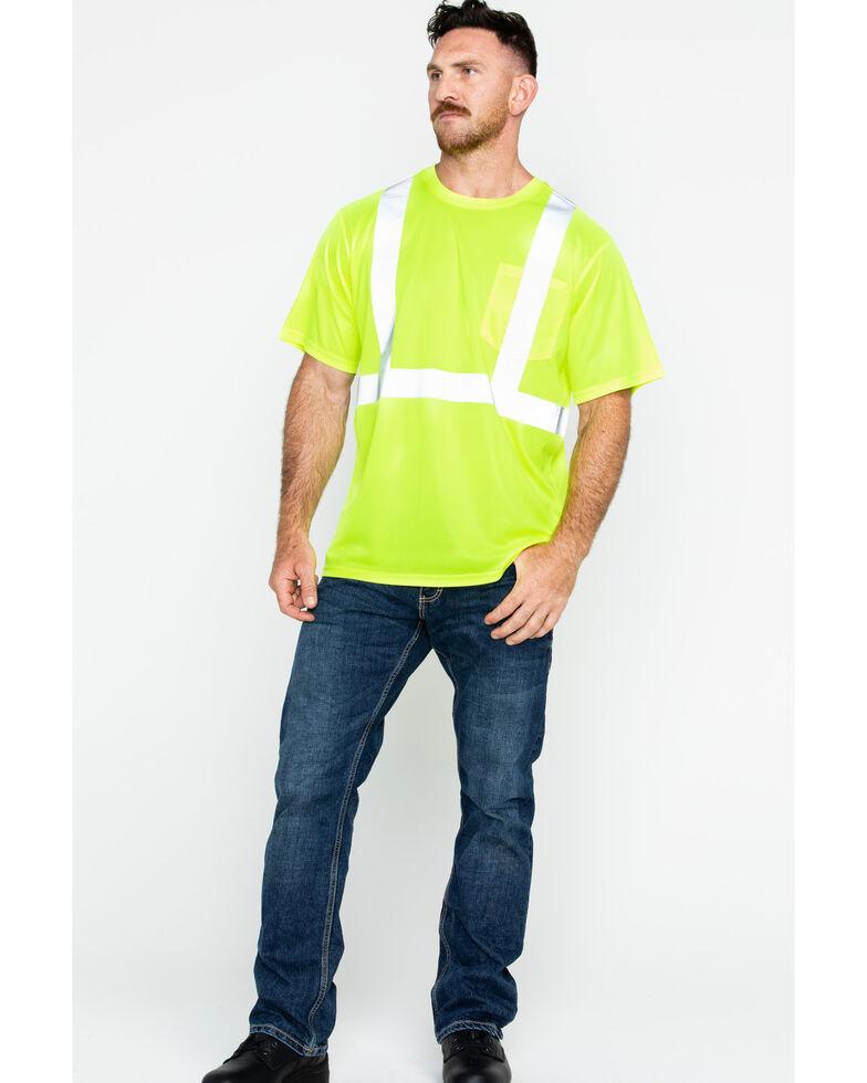 Hawx Men's Short Sleeve Reflective Work Tee - Big & Tall, Yellow, hi-res