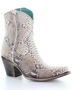 Corral Women's Python Western Booties - Snip Toe, Python, hi-res