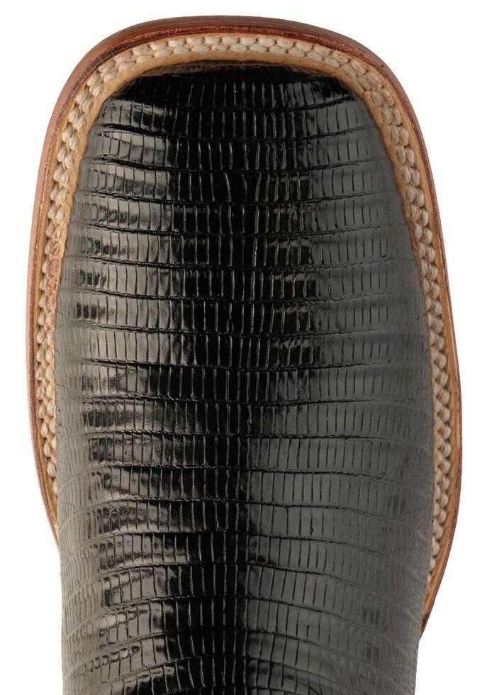 Ferrini Black Lizard Cowgirl Boots- Wide Square Toe, Black, hi-res