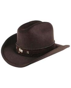 Shyanne Kids' Monte Carlo Horsing Around Cowboy Hat, Chocolate, hi-res
