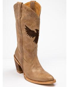 Idyllwind Women's Inlayed Eagle Vigilante Western Boots - Round Toe, Ivory, hi-res