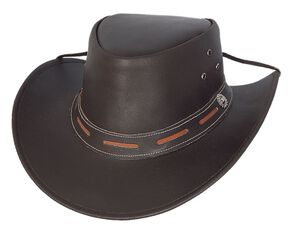 Bullhide Maitland Leather Hat, Brown, hi-res