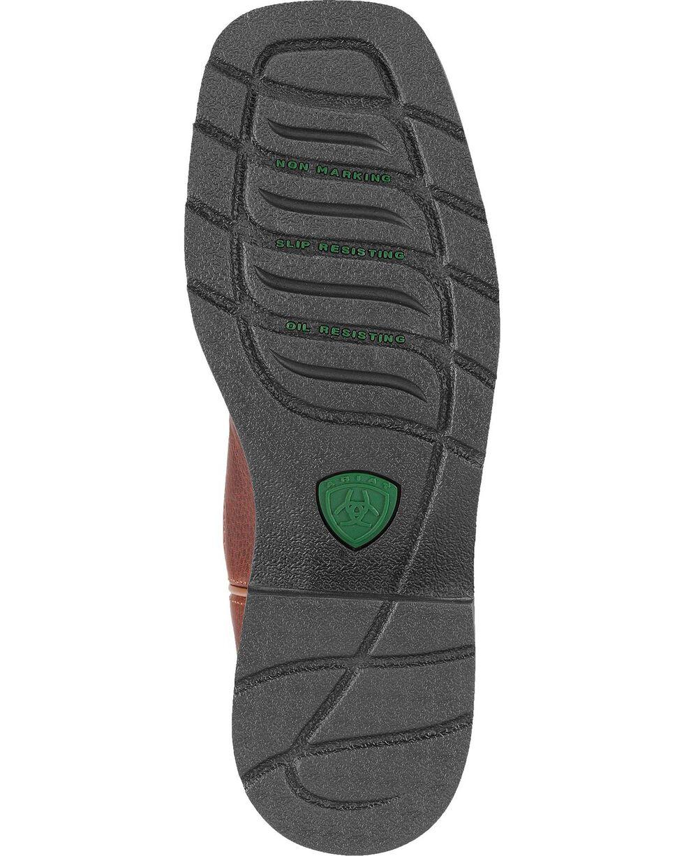 Ariat Krista Pull-On Work Boots - Steel Toe, Dark Brown, hi-res