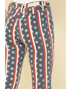 Rock & Roll Cowgirl Women's Star & Stripe Flare Jeans , Multi, hi-res