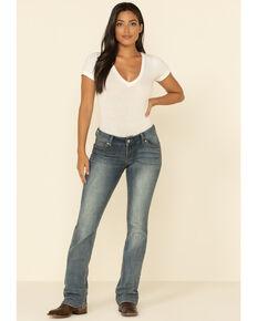 Wrangler Retro Women's Indigo Pocket with Stitch Sadie Jeans - Boot Cut , Indigo, hi-res