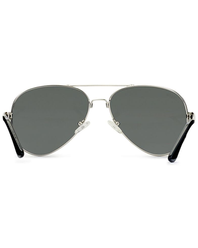Hobie Men's Mavericks Shiny Silver & Grey Polarized Sunglasses , Silver, hi-res