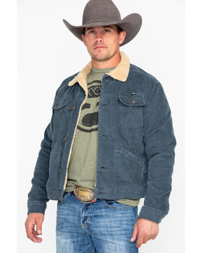 Wrangler Men's Heritage Cowboy Sherpa Jacket , Grey, hi-res