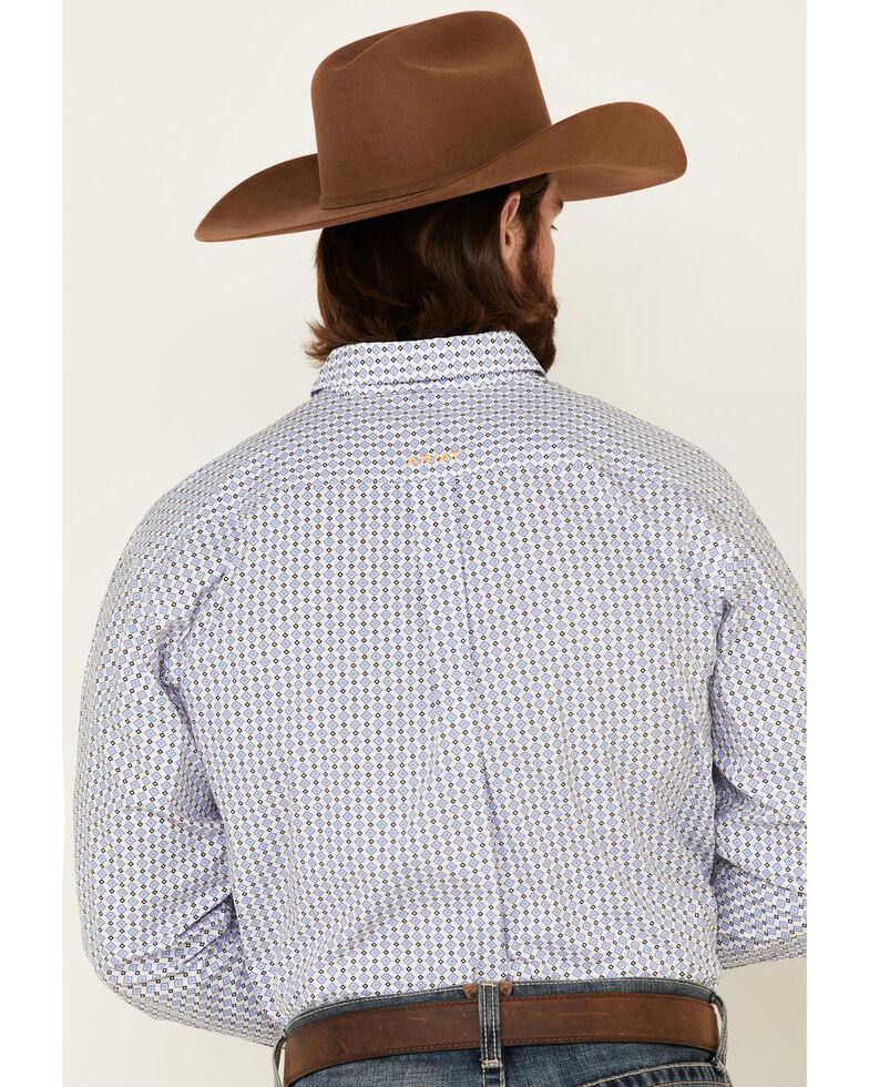 Ariat Men's Bane Geo Print Long Sleeve Western Shirt , White, hi-res