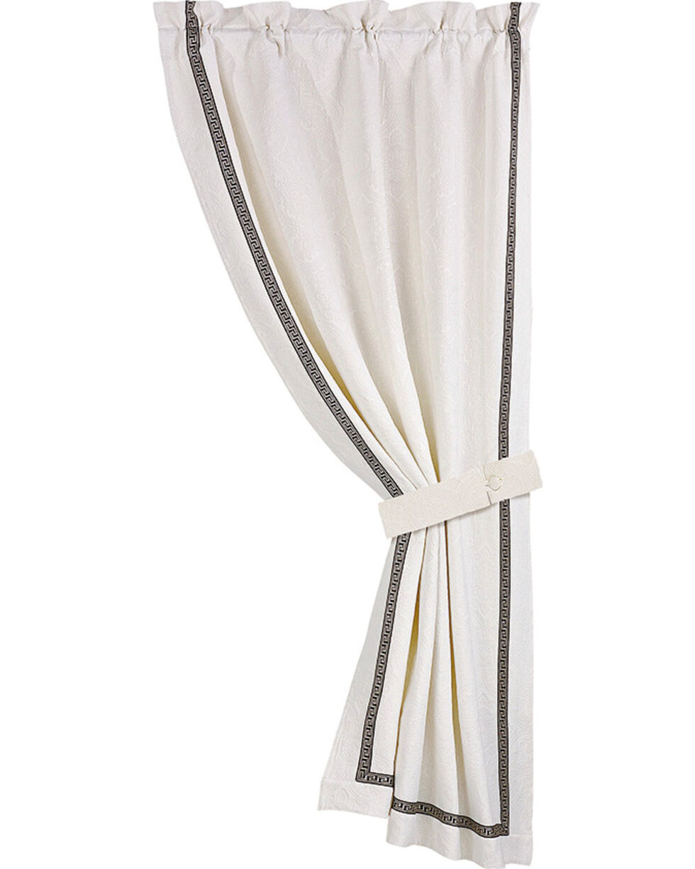 HiEnd Accent White August Matelasse Curtain, White, hi-res