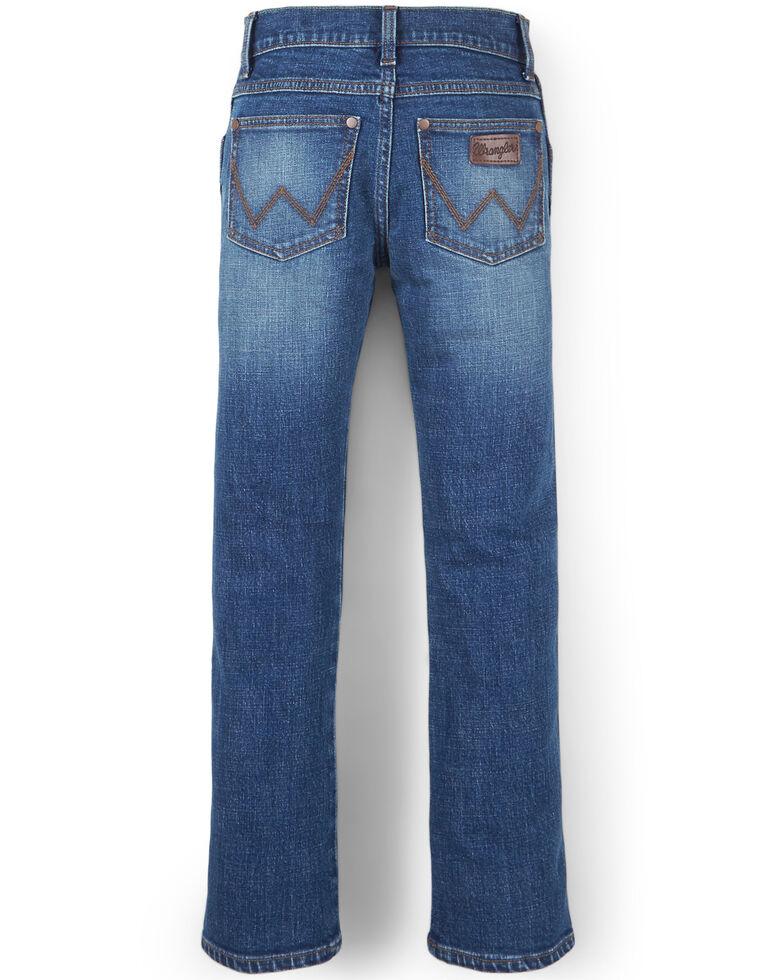 Wrangler 20X Boys' No.44 Stirrup Stretch Slim Straight Jeans , Blue, hi-res
