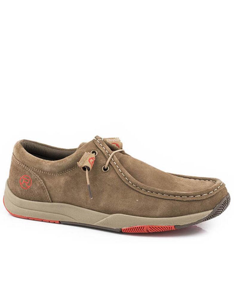 Roper Men's Tan Clearcut Chukka Shoes - Moc Toe, Tan, hi-res