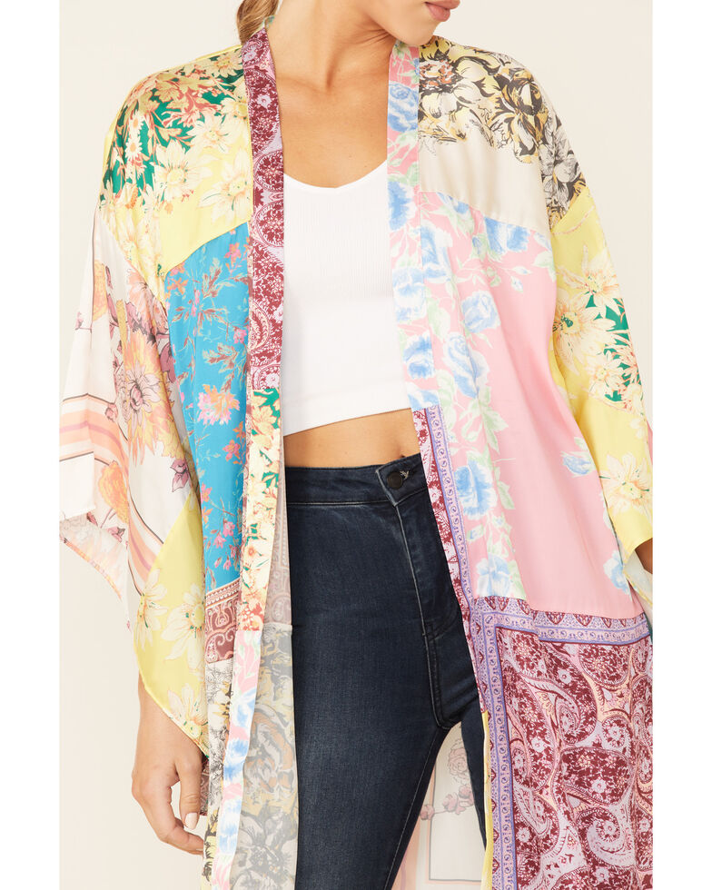 Free People Women's Multi Patchwork Love Kimono , Multi, hi-res