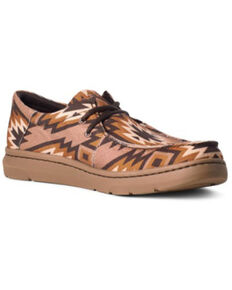 Ariat Men's Hilo Aztec Casual Shoes - Moc Toe, Brown, hi-res