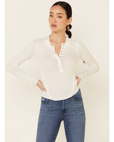 Free People Women's One Of The Girls Thermal Top , Ivory, hi-res