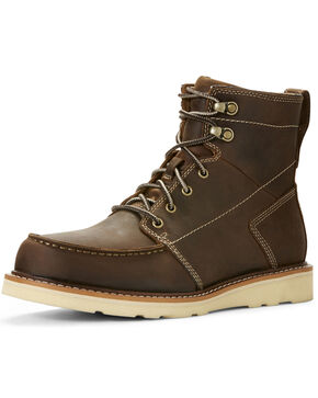 Ariat Men's Recon Lace-Up Boots - Moc Toe, Brown, hi-res