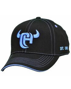 Cowboy Hardware Men's Black 3D CH Logo Ball Cap , Black, hi-res