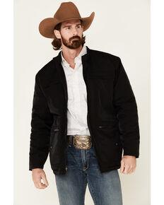 Cripple Creek Men's Black Nylon CC Barn Coat , Black, hi-res