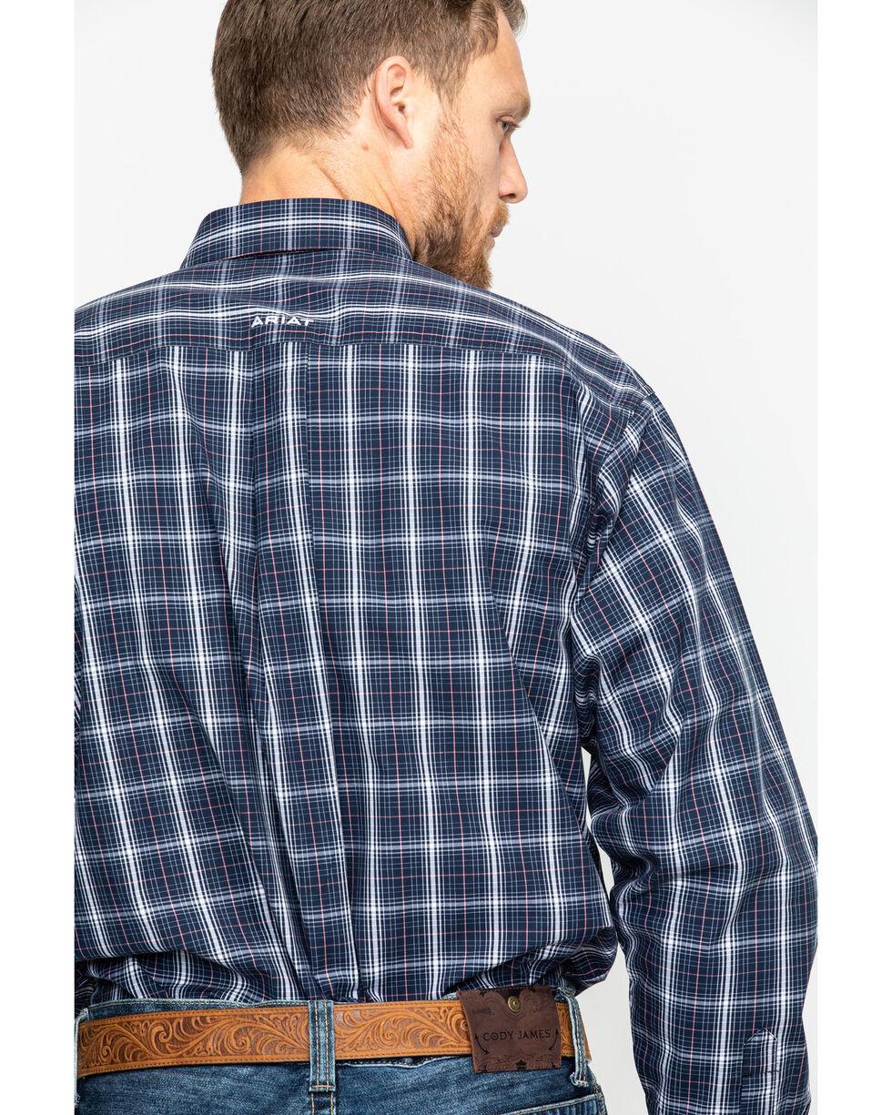 Ariat Men's Daytona Plaid Long Sleeve Western Shirt - Big & Tall , Navy, hi-res