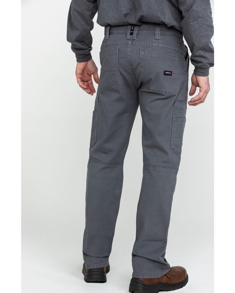 Ariat Men's Grey FR M5 Duralight Stretch Canvas Straight Work Pants , Grey, hi-res