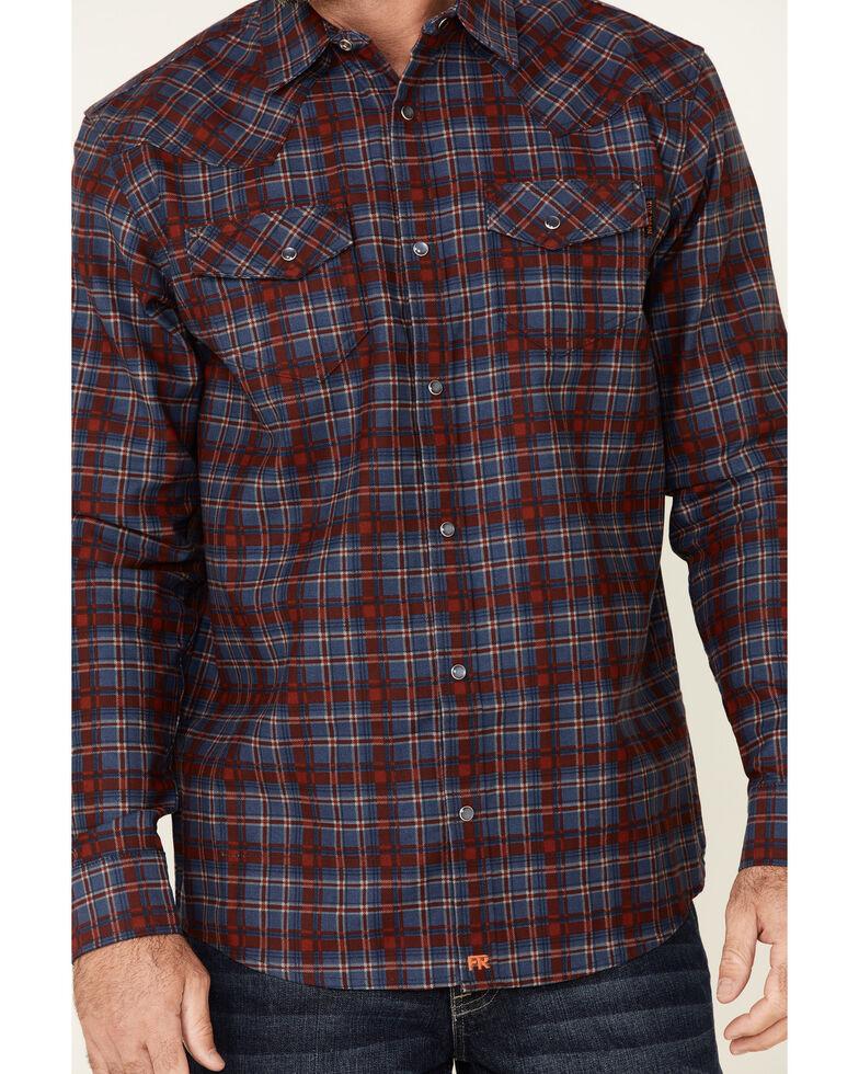 Cody James Men's FR Indigo Plaid Long Sleeve Work Shirt , Indigo, hi-res