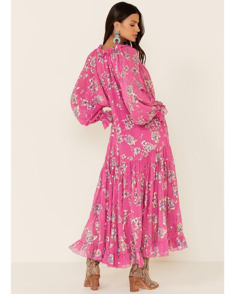 Free People Women's Feeling Groovy Maxi Dress, Pink, hi-res