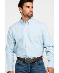 Cody James Core Men's Stampede Solid Long Sleeve Western Shirt , Light Blue, hi-res