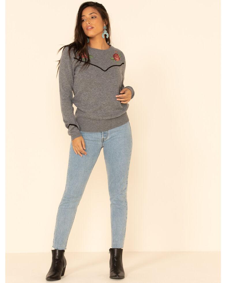 Ariat Women's Sharp Shooter Sweater, Grey, hi-res