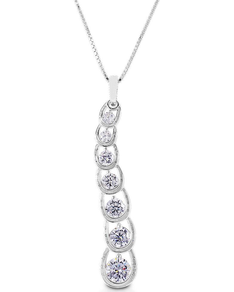 Kelly Herd Women's Horseshoe Journey Necklace , Silver, hi-res