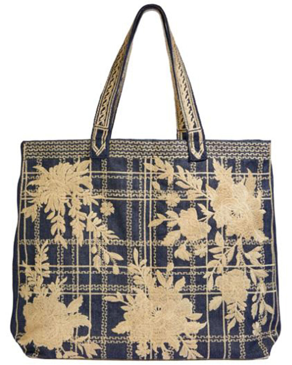 Johnny Was Women's Denim Cayden Everyday Tote Bag , Blue, hi-res