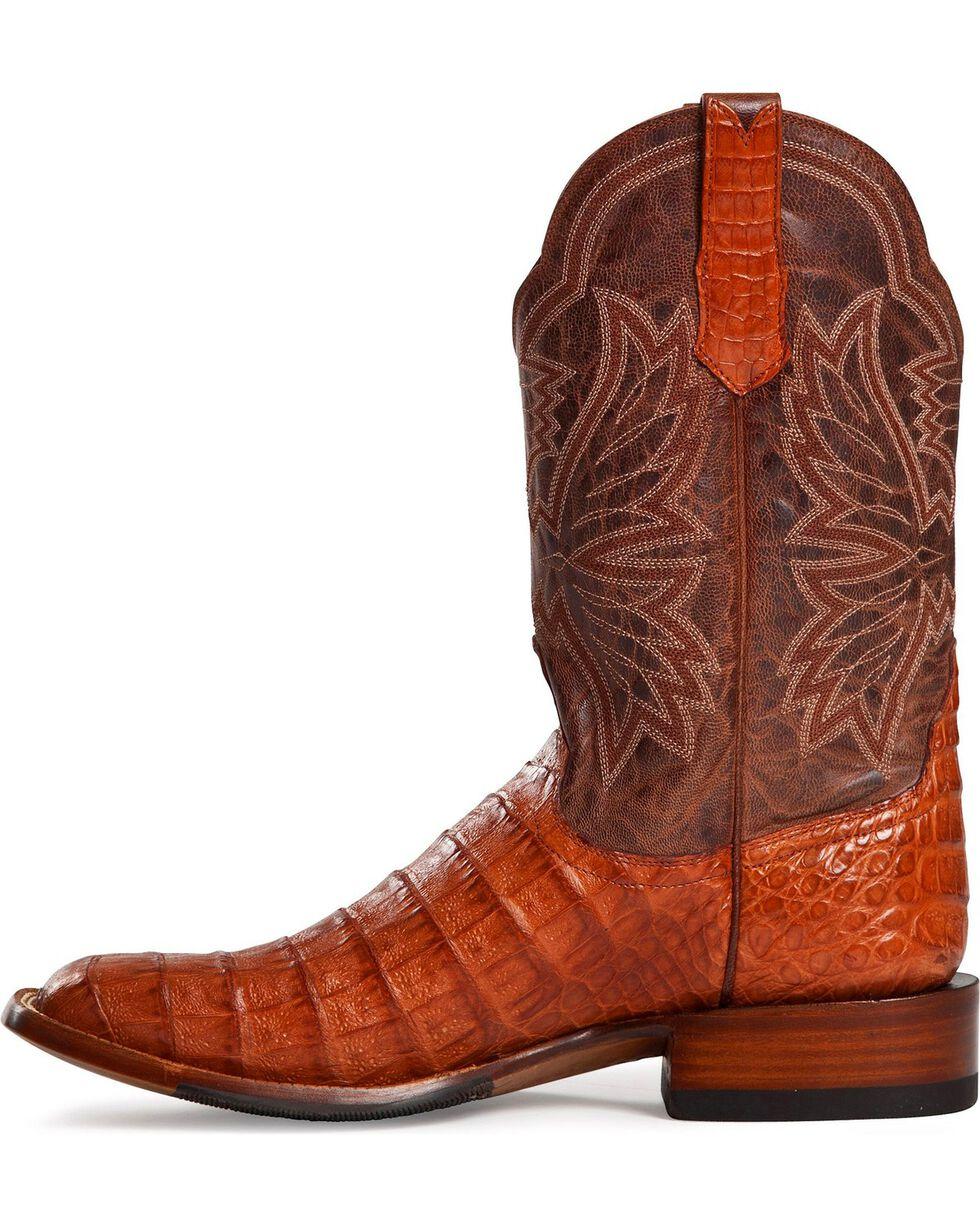 Cinch Classic Cognac Caiman Belly Mad Dog Cowboy Boots - Square Toe, Cognac, hi-res