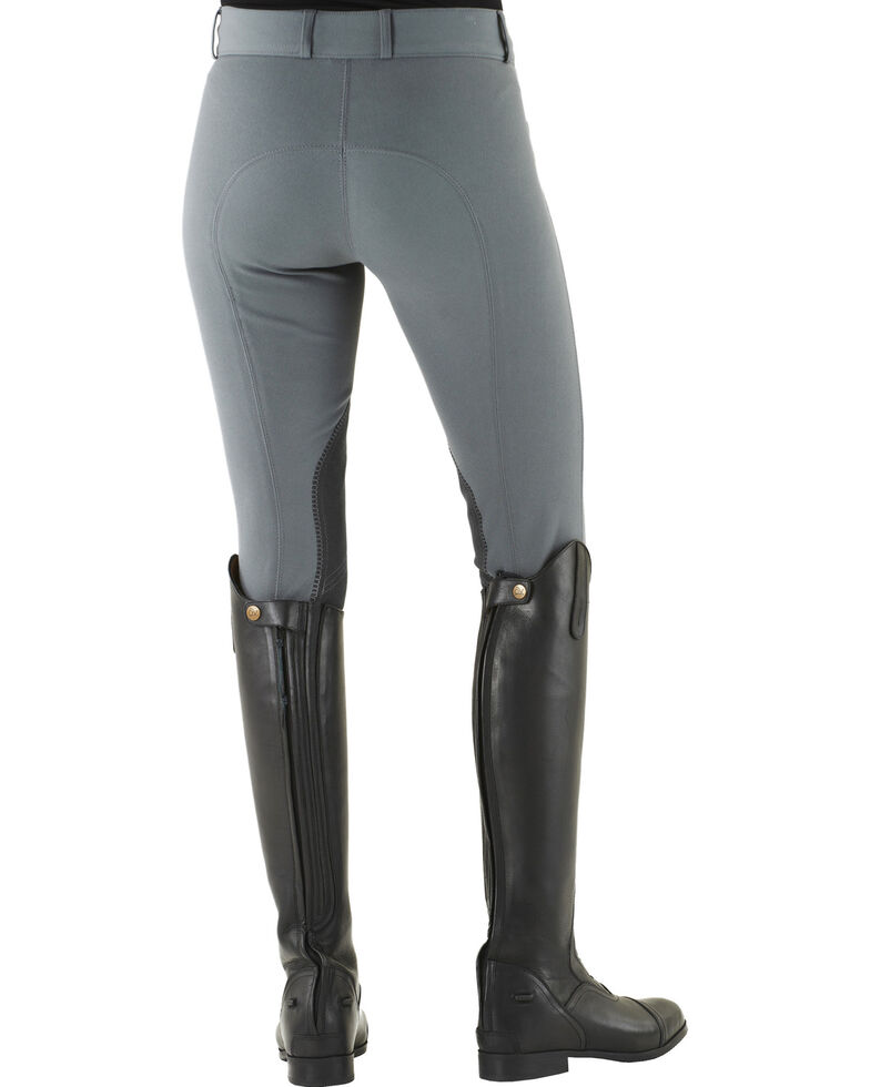 Ovation Celebrity Slimming Knee Patch DX Breeches, Grey, hi-res