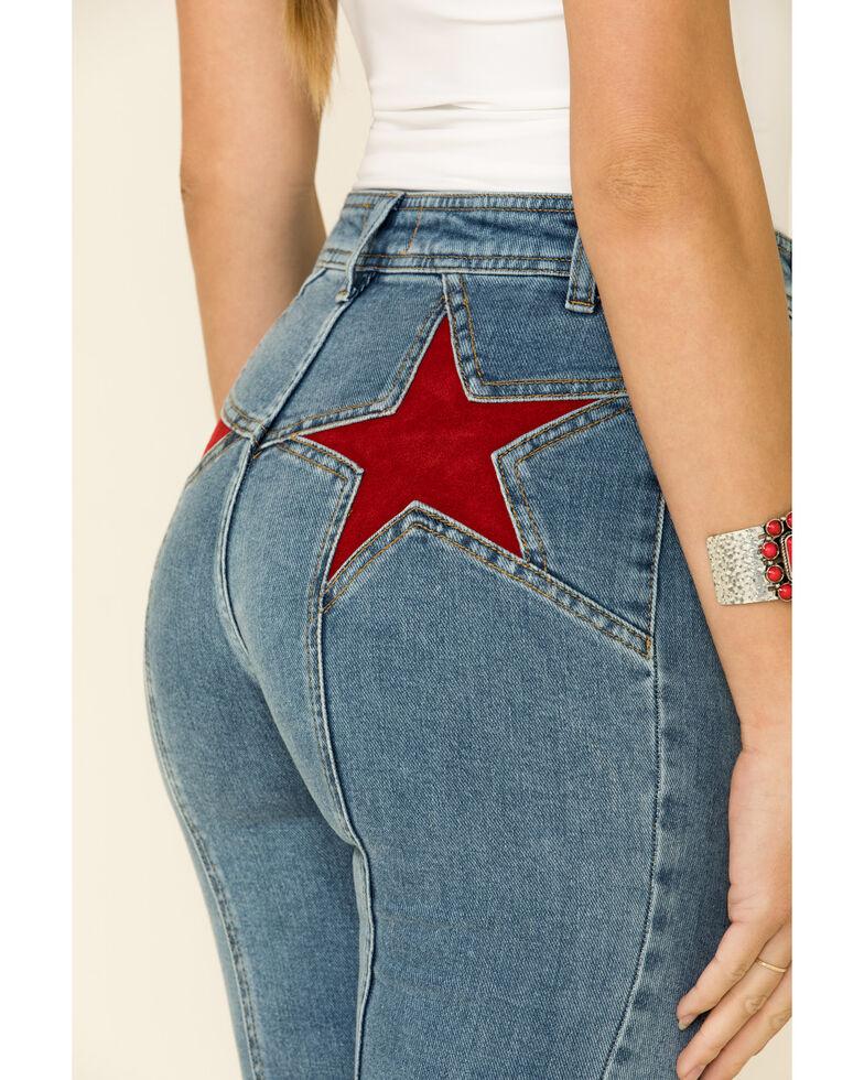 Free People Women's Firecracker Flare Jeans, Blue, hi-res