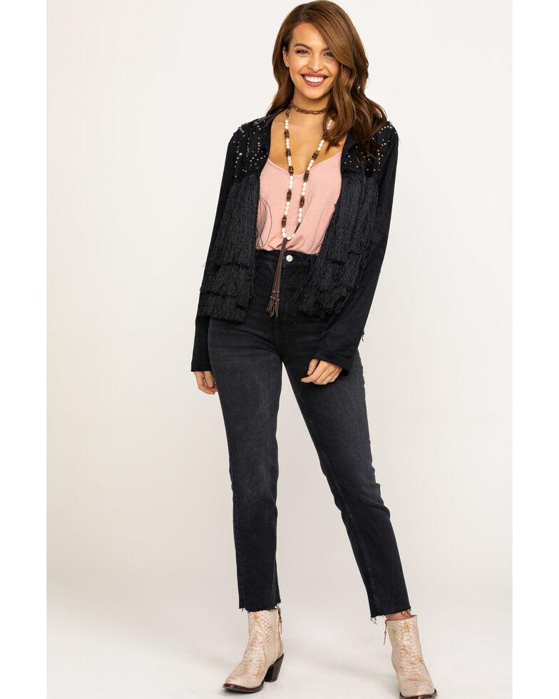 Ariat Women's Fringing Jacket, Black, hi-res