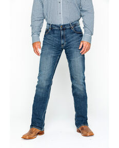 9c3c23b0aac Wrangler Men's Layton Retro Slim Fit Boot Cut Jeans