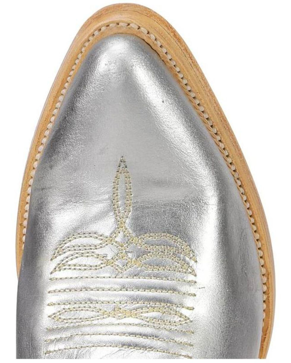 Corral Women's Silver Embroidery Tall Top Cowgirl Boots - Pointed Toe, Silver, hi-res