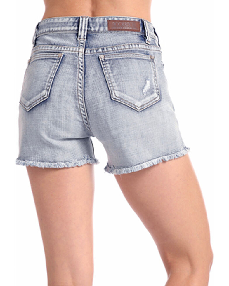 Rock & Roll Cowgirl Women's Light Vintage Wash High Rise Shorts, , hi-res