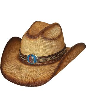 Bullhide Red Cloud Bangora Straw Cowgirl Hat, Natural, hi-res