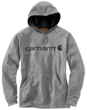 Carhartt Men's Extremes Signature Graphic Hooded Work Sweatshirt- Big & Tall , Heather Grey, hi-res