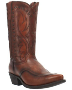 Laredo Men's Pierce Western Boots - Snip Toe, Cognac, hi-res