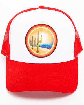 Cody James Men's Desert Sunrise Trucker Hat, Red, hi-res